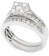Macy's Diamond Channel-Set Bridal Set (1 ct. t.w.) in 14k White Gold