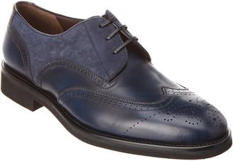 Salvatore Ferragamo Fillmore Leather & Suede Wingtip Oxford