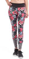 L.A. Gear Black & Pink Floral Leggings
