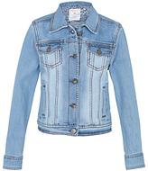Fat Face Girls' Denim Jacket, Blue