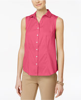 Charter Club Petite Sleeveless Shirt, Only at Macy's