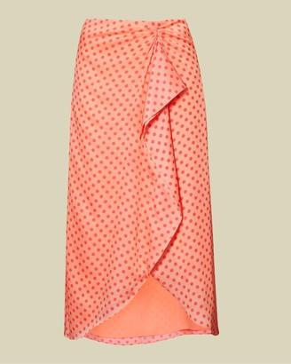 Ted Baker Contrast Spot Wrap Skirt