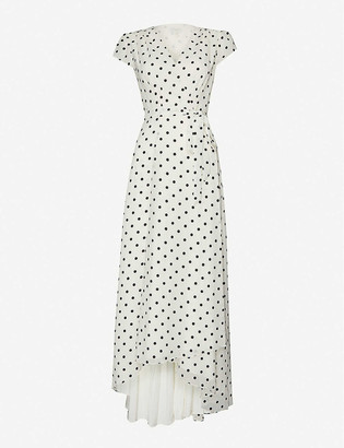 Ted Baker Plunging V-neck crepe maxi dress