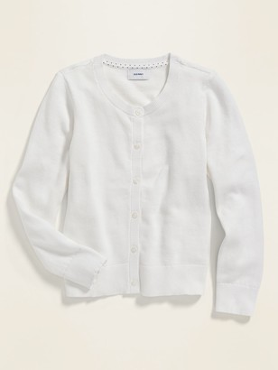 Old Navy Uniform Crew-Neck Button-Front Cardigan for Girls