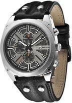Police Men's Enforce PL.12699JS/02 Black Calf Skin Quartz Watch with Dial