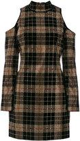 Balmain strass-embellished mini dress