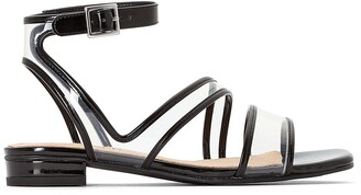La Redoute Collections Perspex Cross Strap Sandals with Ankle Strap