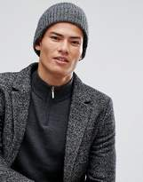 New Look New Look Beanie In Black Marl