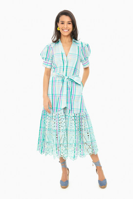 Tanya Taylor Mint Multi Fern Dress