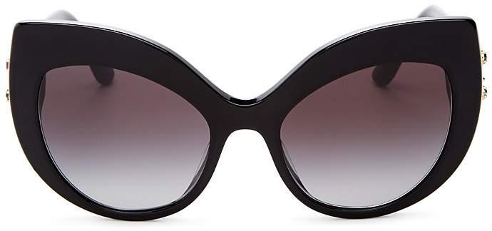 Dolce & Gabbana Embellished Oversized Cat Eye Sunglasses, 58mm