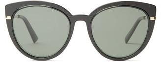 Le Specs Promiscuous Cat-eye Acetate Sunglasses - Black