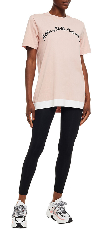 Thumbnail for your product : adidas by Stella McCartney Cutout Printed Cotton-blend Jersey T-shirt