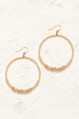 Chan Luu Sunflower Open Circle Multi Beaded Drop Earrings Gold 1 Size