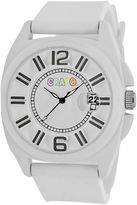 Crayo Sunset White Silicone-Band Watch With Date Cracr3301