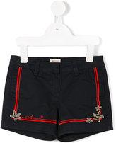 Armani Junior starfish shorts - kids - Cotton/Spandex/Elastane - 5 yrs