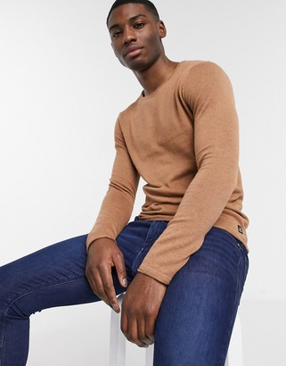 Tom Tailor crew neck knitted jumper with rolled edges