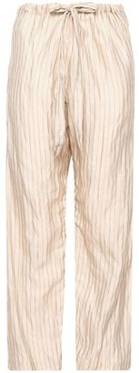 Forte Forte Forte_forte Metallic Pinstriped Cotton-blend Wide-leg Pants