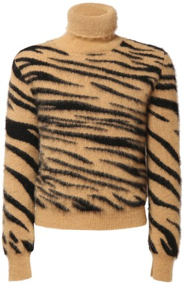 Paco Rabanne Mohair Blend Turtleneck Sweater