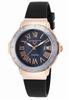 Swiss Legend Women's 20032DSM-RG-01-SB South Beach Analog Display Swiss Quartz Black Watch