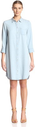 James & Erin Women's Button Front Dress