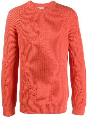 Laneus Distressed Relaxed-Fit Jumper