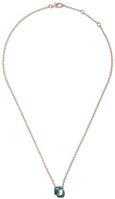 Pomellato 18kt rose & white gold Nudo light blue topaz pendant necklace