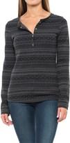 Columbia Hood Mountain Lodge Jacquard Henley Shirt - Long Sleeve (For Women)