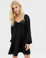 Asos Design DESIGN sweetheart babydoll mini swing dress