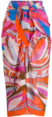 Emilio Pucci abstract print pareo