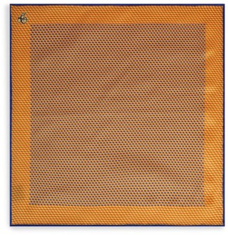 Canali Geometric Silk Pocket Square