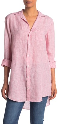 Frank And Eileen Mary Stripe Linen Button Front Shirt