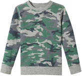 Joe Fresh Kid Boys' Camo Sweatshirt, Light Grey Mix (Size S)
