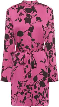 Equipment Roseabelle Floral-print Crepe De Chine Mini Dress