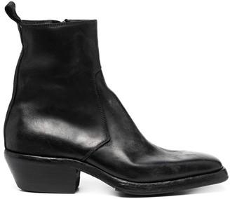Premiata Square Toe Block Heel Boots