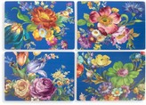 Mackenzie Childs Flower Market 4-Piece Placemat Set