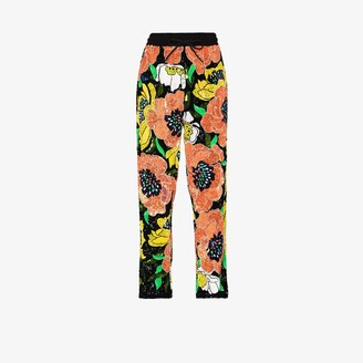 Ashish Floral Sequinned Track Pants