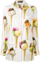 Dolce & Gabbana ice-cream print shirt - women - Silk - 36