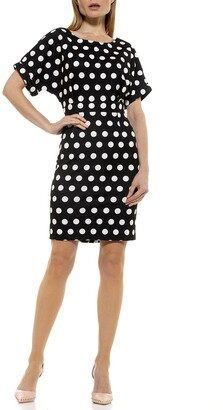 Alexia Admor Polka Dot Dolman Sleeve Dress