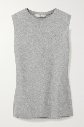 Tibi Cotton-blend Terry Tank - Gray