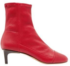 Isabel Marant Daevel Paneled Leather Sock Boots