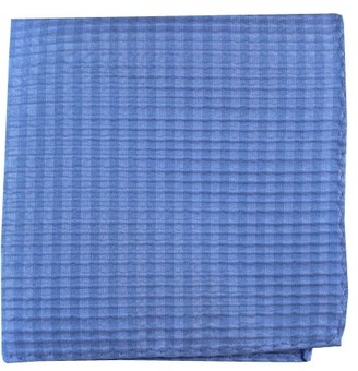 Tie Bar Silk Seersucker Solid Light Blue Pocket Square