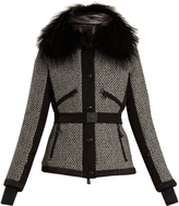 Moncler Mongie fur-trimmed down ski jacket