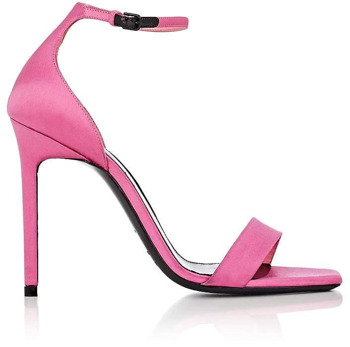 Saint Laurent Women's Amber Satin Ankle-Strap Sandals