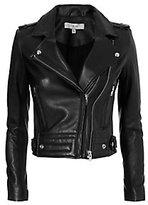 IRO Luiga Moto Black Leather Jacket