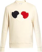 Moncler Logo-appliqué cotton-blend jersey sweatshirt