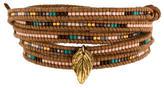 Chan Luu Leaf Bead Wrap Bracelet