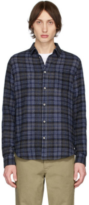 Norse Projects Navy Gauze Check Osvald Shirt