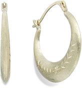 Macy's Etched Graduated Hoop Earrings in 10k Gold