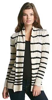 Pink Rose® Juniors' Striped Open Cardigan