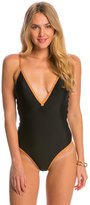 Vix Paula Hermanny Solid Gallon One Piece Swimsuit 8148192
